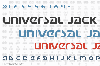 Universal Jack Font