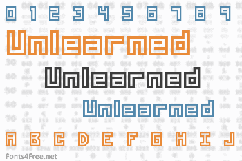 Unlearned Font