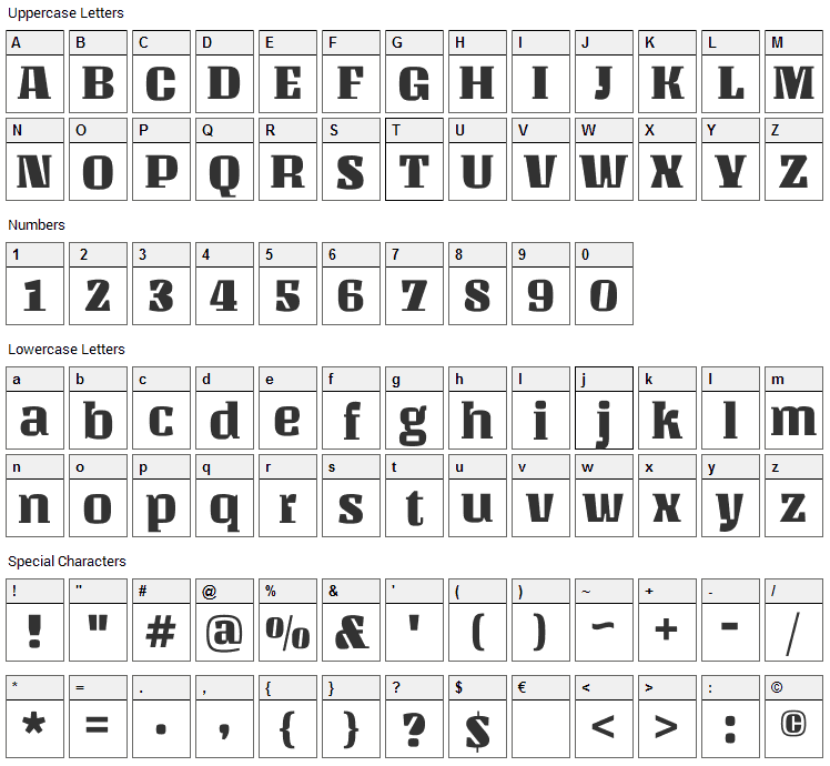 Unlock Font Character Map