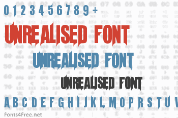 Unrealised Font