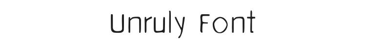 Unruly Font