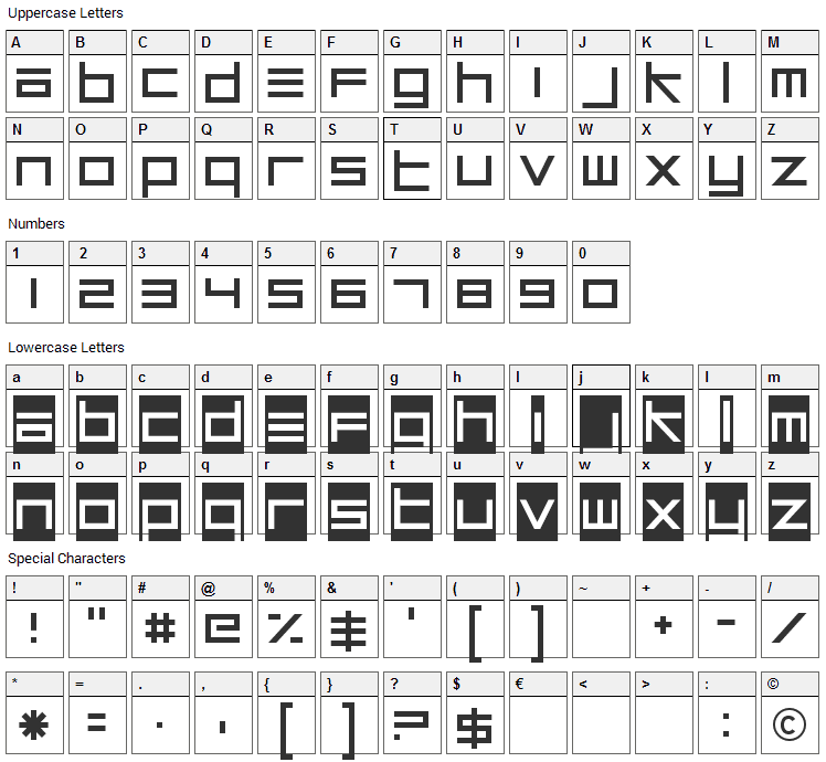 Unsteady Oversteer Font Character Map