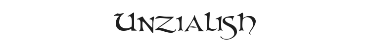 Unzialish Font Preview