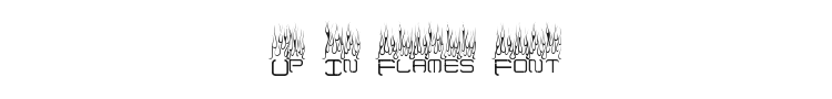 Up In Flames Font