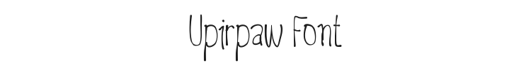 Upirpaw Font Preview