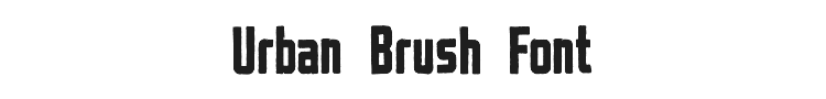 Urban Brush Font Preview