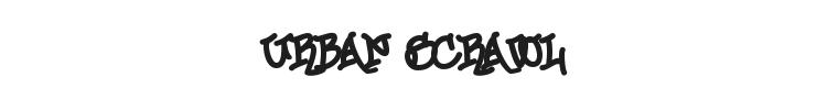 Urban Scrawl Font Preview