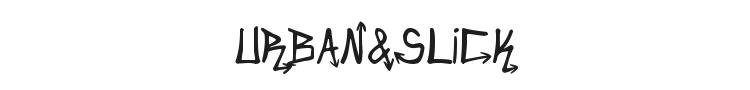 Urban&Slick Font Preview