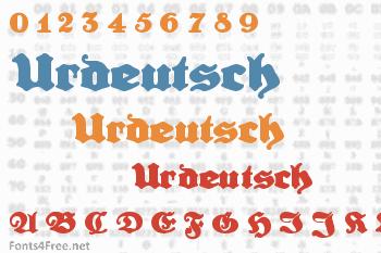 Urdeutsch Font