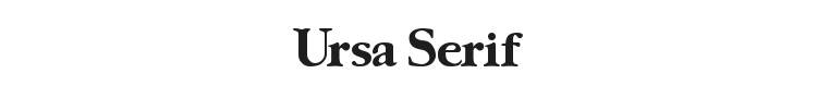 Ursa Serif Font Preview