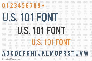 U.S. 101 Font
