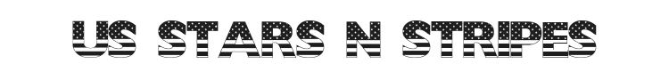 US Stars N Stripes Font Preview