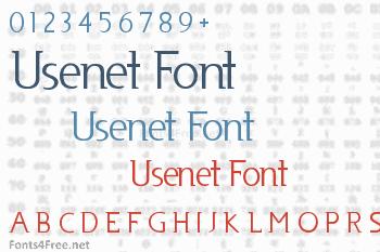 Usenet Font