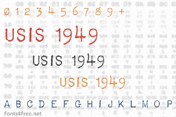 USIS 1949 Font