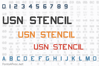 USN Stencil Font
