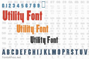 Utility Font