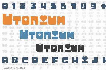 Utonium Font