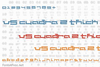 V5 Cuadra 2 Thick Font