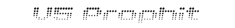 V5 Prophit Font Preview