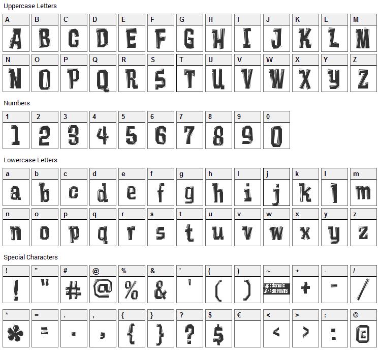 Vademecum Font Character Map