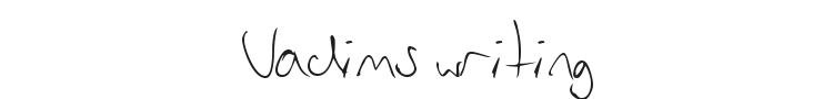 Vadims writing Font