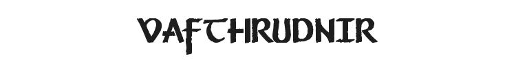 Vafthrudnir Font Preview
