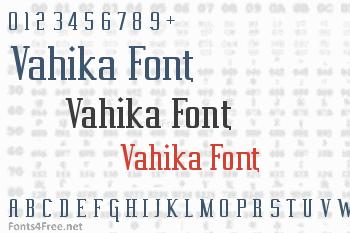 Vahika Font