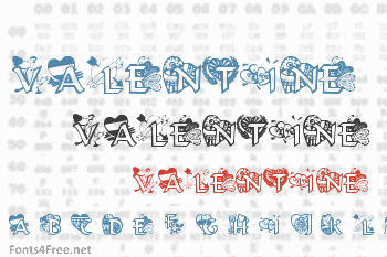 Valentine Hearts Font