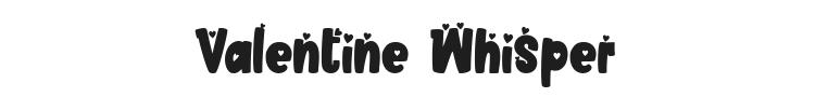 Valentine Whisper Font Preview