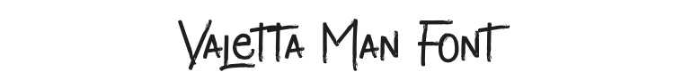Valetta Man Font Preview