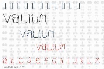 Valium Font
