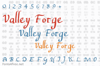 Valley Forge Font