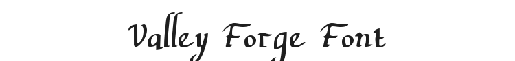 Valley Forge Font Preview