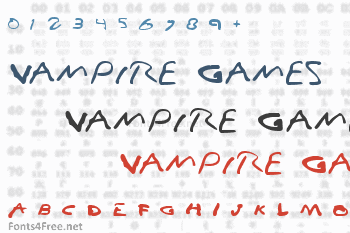 Vampire Games Font