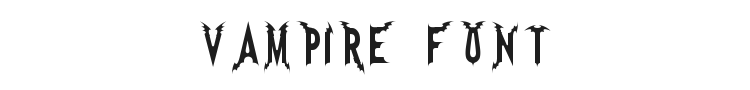 Vampire Font Preview