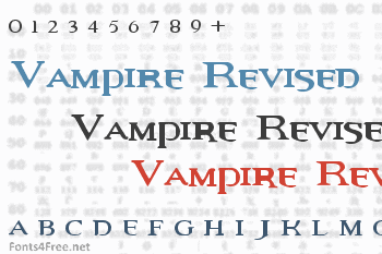 Vampire Revised Font