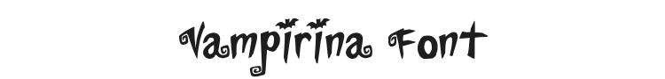 Vampirina Font Preview