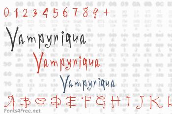 Vampyriqua Font
