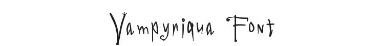 Vampyriqua Font Preview