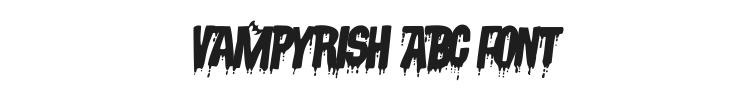 Vampyrish ABC Font