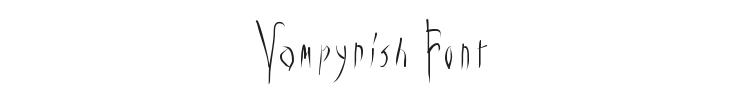 Vampyrish Font Preview