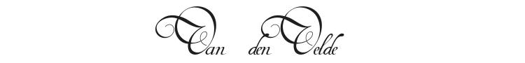 Van den Velde Script Font Preview