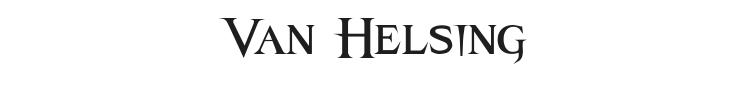 Van Helsing Font Preview