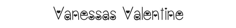 Vanessas Valentine Font Preview