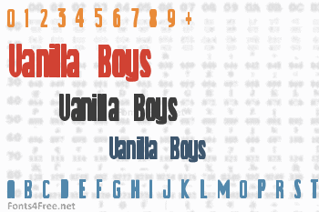 Vanilla Boys Font