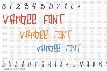 Varbee Font