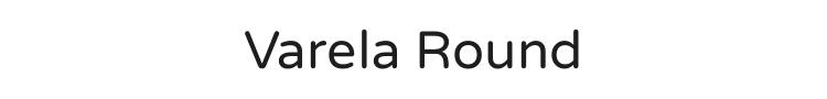 Varela Round Font Preview
