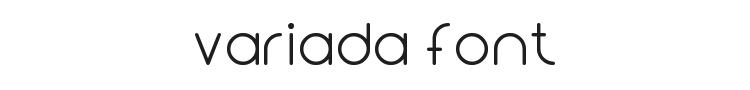 Variada Font Preview