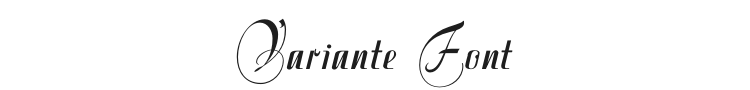 Variante Initials Font Preview