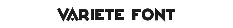 Variete Font Preview